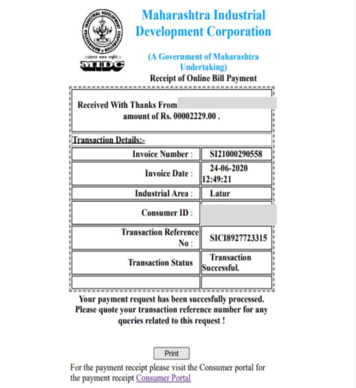 MIDC-Water-Bill-Online-Payment